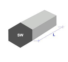 Stabstahl Sechskant-Form