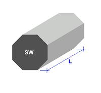 Stabstahl Achtkant-Form
