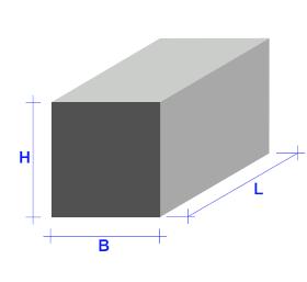 Stabstahl vierkant